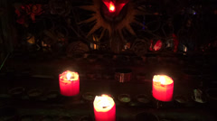 Candles, Wax, Fire, Light - stock footage