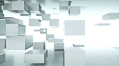 White Cubes Background (LOOP) Stock Footage