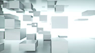 Stock Video Footage of White Cubes Background (LOOP)