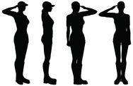 Stock Illustration of eps 10 vector of soldier, officer, captain, policeman saluting