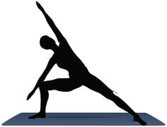 eps 10 vector illustration of yoga positions in side angle pose - stock illustration