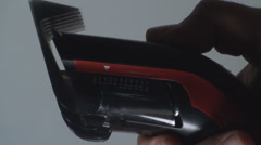 Matching Length On A Hair Clipper  Stock Footage