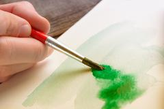 watercolor artwork - stock photo