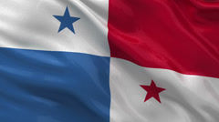 Flag of Panama - seamless loop Stock Footage