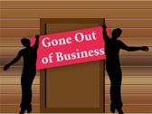 Stock Illustration of closing down sign in shop entrance