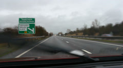 Car window view - travelling towards Oxford Stock Footage