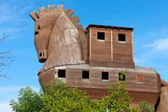 Trojan horse located in troy, turkey Stock Photos