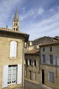 view of saint emilion, in aquitaine, france - stock photo