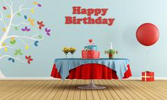 Stock Illustration of birthday party
