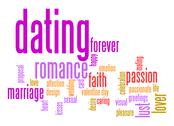 Stock Illustration of dating word cloud