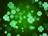 Stock Illustration of clovers background