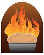 freshly baked bread - stock illustration