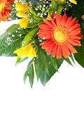 Freesia and gerbera daisy wedding bouquet Stock Photos
