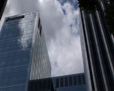Office block. Paris, France Stock Footage