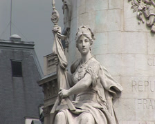 Equality. Statue at Republique. Paris, France Stock Footage