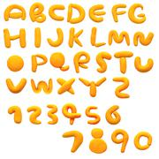 Colorful alphabet made from plasticine (isolated on white). use it to make yo Stock Photos