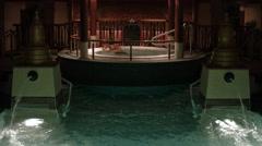 Luxury health spa resort cruise ship night HD BM 2203 Stock Footage