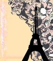 Stock Illustration of vintage retro eiffel card