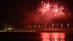 The opening ceremony of Penang Second Bridge Stock Footage