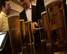 Bankers drinking in London City Pub - stock footage