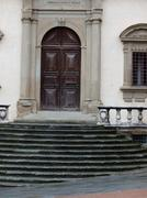 piazza grande - the old tribunal palace. arezzo - stock photo