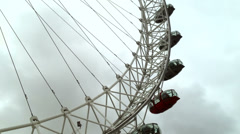 Close up on the London Eye in London Time Lapse EDITORIAL USE ONLY Stock Footage
