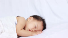 Asian Baby boy sleeping - stock footage