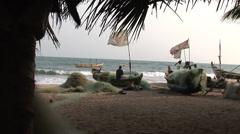 Fishermen - Ghana Stock Footage