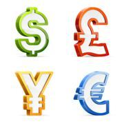 Stock Illustration of currency symbols