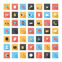 Stock Illustration of flat icons