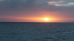 Beautiful sunset over Caribbean Ocean from ship HD 1880 Stock Footage