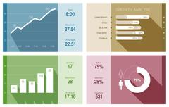 Infographics vektori design malli. Piirros