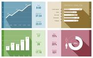 Infographics vector design template. trendy flat style. graph, diagram, charts Stock Illustration