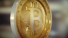 Bitcoin BTC Loop 4K Stock Footage