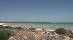 Little lagoon SharkBay National Park Stock Footage