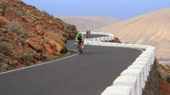 2014 racingbike island uphill fast Stock Footage
