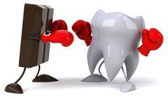 Human teeth - stock illustration