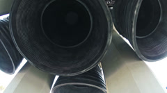 Below Main Rocket Engines of Saturn V HD Stock Footage