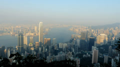 Ultra HD 4K Asia China Hong Kong skyline Central financial district Stock Footage
