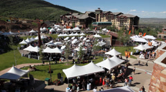Park City wine festival Stock Footage