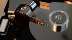 Opened hard disk failure  Stock Footage