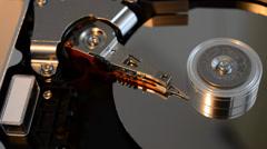 opened hard disk failure - stock footage