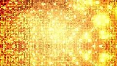 Golden square blocks background animation. Stock Footage