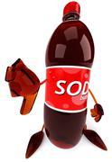 Cola drink bottle Stock Illustration
