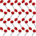 Stock Illustration of elegant seamless pattern with decorative red poppies, design element