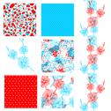 Stock Illustration of set of 6 elegant seamless patterns with decorative orchids,  design elements