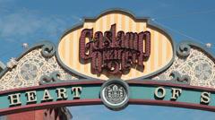 Gaslamp Quarter Sign Close Up - stock footage