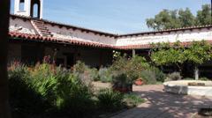 Old Town Hacienda Courtyard Stock Footage