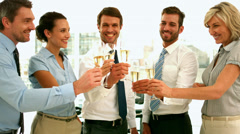 Business team toasting with champagne Stock Footage