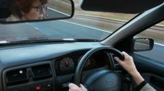 Worried woman driver Stock Footage